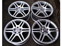 R17 Genuine OEM Mercedes AMG Alloy wheels * Staggered