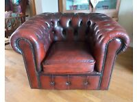 Vintage Oxblood Red Leather Club Chair - great condition. Retro style