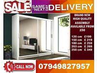 CHEAPEST PRICE OFFER 60% OFF 2 OR 3 DOOR WARDROBE (SLIDING) MIRROR IN DIFFERENT COLOR NORWAY