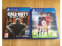 PS4 games call of duty black ops 3 / FIFA 16