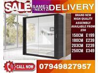 CLASSIC BRAND NEW 2 OR 3 DOOR WARDROBE (SLIDING) MIRROR Norman