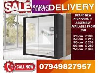 CHEAPEST PRICE OFFER 60% OFF 2 OR 3 DOOR WARDROBE (SLIDING) MIRROR IN DIFFERENT COLOR POST