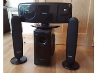 Samsung HT-Q100 DVD Home Cinema System with 2 Speakers, Sub Woofer & remote control.