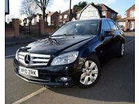 2010 MERCEDES-BENZ C CLASS SE (EXECUTIVE) 2.1 C200 CDI DIESEL BLACK BLUEEFFICIENCY