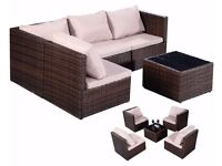 **FREE UK DELIVERY** Rattan Outdoor Garden Furniture Sofa Set Fully Adjustable - BRAND NEW!