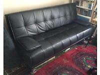 Couch Sofa Foldable Faux Leather 198 Cm X 120 Cm. Ready for transport