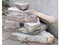 Pile of sandstone
