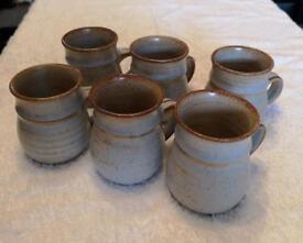 Pottery ceramic mugs - set of 6