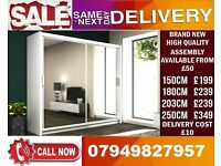 BRAND NEW 3 DOOR SLIDING WARDROBE/ 2 DOOR AVAILABLE ALSO