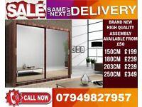 CLASSIC BRAND NEW 2 OR 3 DOOR WARDROBE (SLIDING) MIRROR Ravian
