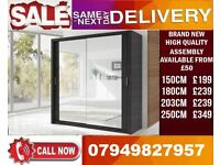 CLASSIC BRAND NEW 2 OR 3 DOOR WARDROBE (SLIDING) MIRROR Norman