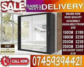 BRAND NEW 2 OR 3 DOOR WARDROBE (SLIDING) MIRROR