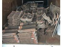 1200 4 years old double pan roofing tiles colour antique red steal at this price