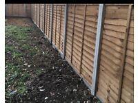 Fencing , flagging , brickwork and groundwork's