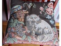 Beautiful tapestry fronted cushions some cat and some dog £10 each