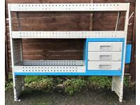 0a437bb3c1 Van Racking   Shelving - TEVO - 3 Drawers   3 Shelves - Good Condition -
