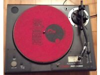 VESTAX PDT 5000 DIRECT DRIVE PRO TURNTABLE AND FLIGHT CASE