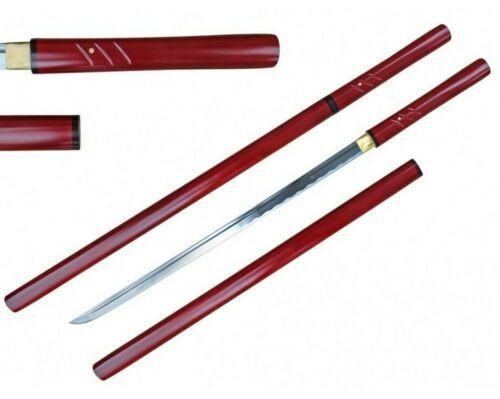 "40"" 1045 Hand Forge Full Tang Carbon Steel Blade Shira Saya Samurai Sword Katana"