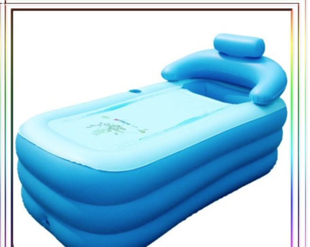 OUTDOOR INFLATABLE ADULT Bath Bathtub Portable Foldable Bathroom ...