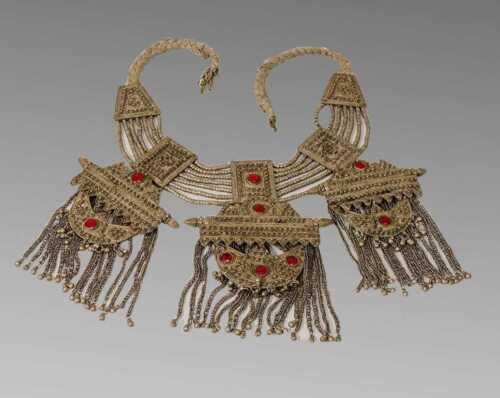Silver Yemenite Antique Necklace 40 oz