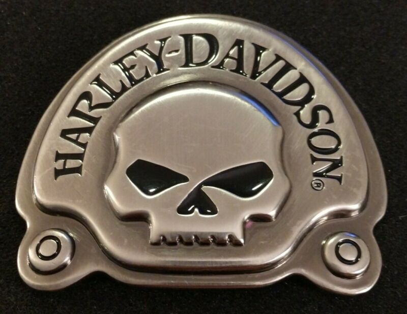 Rare Unique Harley-Davidson Willie G. Skull Belt Buckle Pre-Owned But Looks New