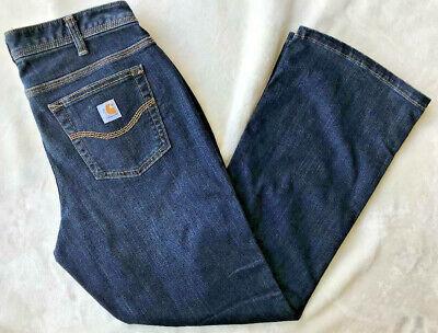 NEW Carhartt Jasper Jeans WorkFlex (MSRP $50) work Women's Size 8 x 34 tall Carhartt Womens Work Jeans