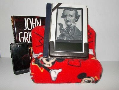 Lap Book, Phone, Tablet Pillow Stand. Ipad Book Reader Soft Holder. Kindle stand (Kindle Phone)