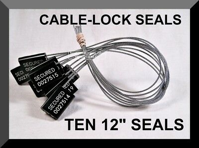 Cable-lock Security Seals Cargo Tanker Black All-metal Ten Seals