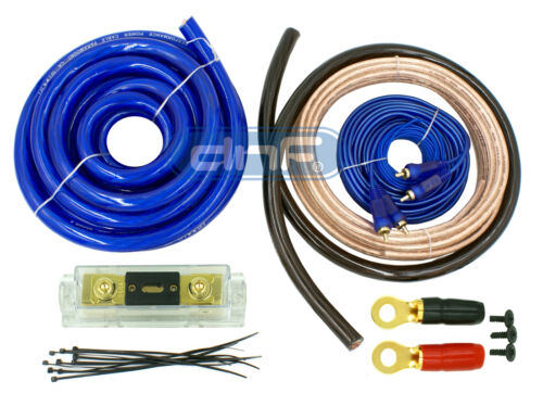 DNF 0 GAUGE BLUE AMP KIT COMPLETE WIRING INSTALL SPEAKER WIRE KIT 6000W