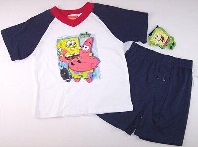 NWT Nickelodeon SpongeBob Squarepants Boy's Shorts Set Outfit, 4 - Spongebob Boy Shorts