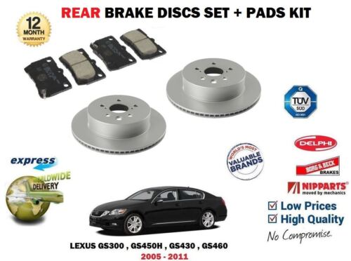 FOR LEXUS GS300 GS450H GS430 GS460 2005-2011 REAR BRAKE DISCS SET + PADS KIT