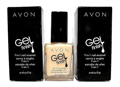 Avon Gel Finish 7-in-1 Nail Enamel ~Creme Brulee~ New in Box (Lot of 2)