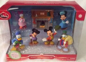 Mickey's Christmas Carol 7 Piece Holiday Figurine Collector Set NEW Mickey Mouse