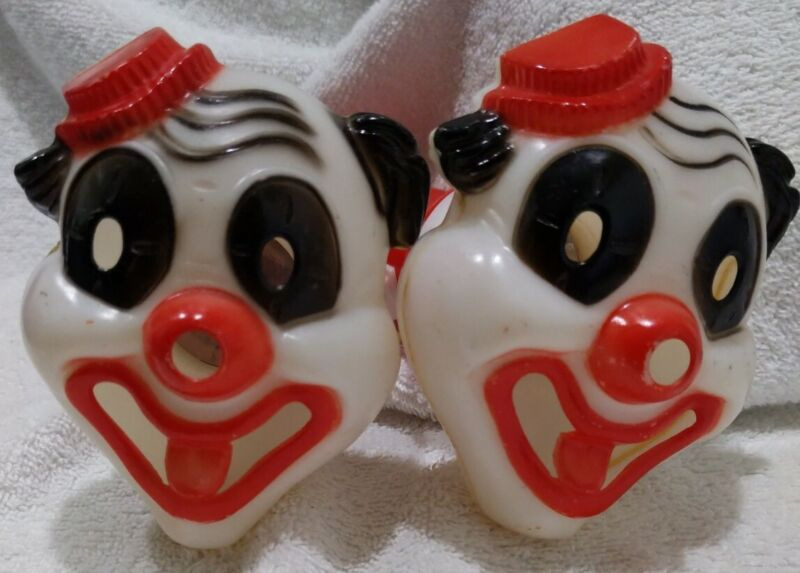Vtg Clown Face Flashlights (2) Ashton Not Working