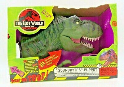 Jurassic Park The Lost World SoundBytes Puppet T-Rex Glow in Dark Hand Puppet