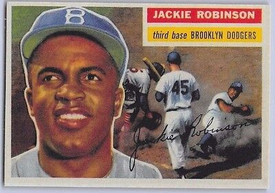 1956  Jackie Robinson   Topps  Reprint  Baseball Card   30   Brooklyn Dodgers