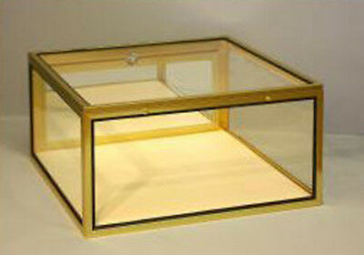 Portable Jewelry Display Showcase Glass Locking Case Knockdown Made In Usa New