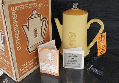 Vintage Westbend Coffeemaker no. 5938 Sunflower Gold NEW IN BOX   NIB
