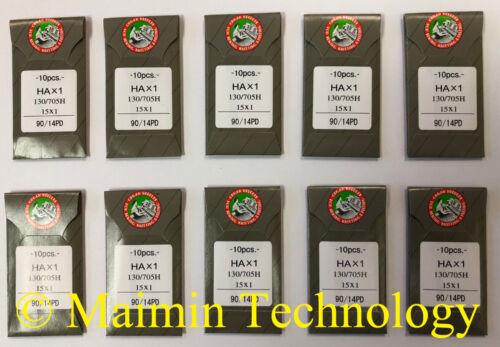 100 90/14 SHARP ORGAN TITANIUM FLAT SHANK 15X1 HAX1 HOME SEWING MACHINE NEEDLES
