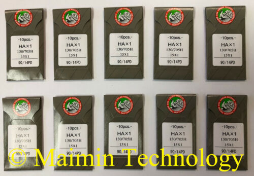 100 ORGAN TITANIUM HOME EMBROIDERY MACHINE NEEDLES 90/14 SHARP 15X1 PD