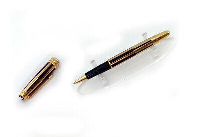 Montblanc Meisterstuck Solitaire Gold Black Rollerball Pen - Refurbished