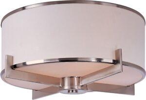 Maxim 12050WTSN Nexus 3 Satin Nickel Flush Mount Ceiling Light