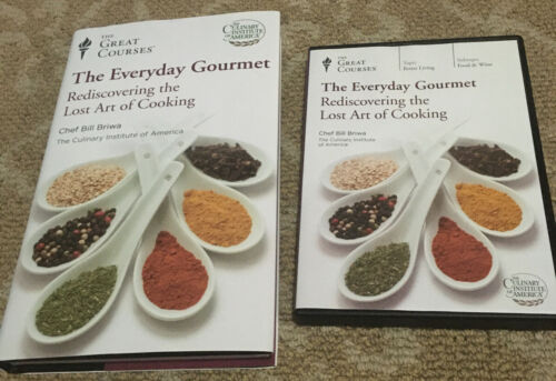 Great Courses-The Everyday Gourmet Lost Art Of Cooking 4 DVD Set Book LN FS - $21.99