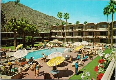 Sheraton Oasis Hotel Palm Springs CA California Desert Resort Pool Postcard C1 Desert Oasis Pool