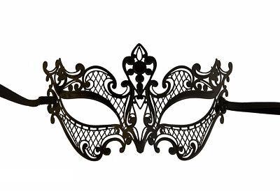 Mask Venice Lei Luxury Venetian Lace Metal Black 410