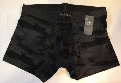 Abercrombie & Fitch Mens Underwear Boxer Brief  Dark Gray Camo Size Large NWT