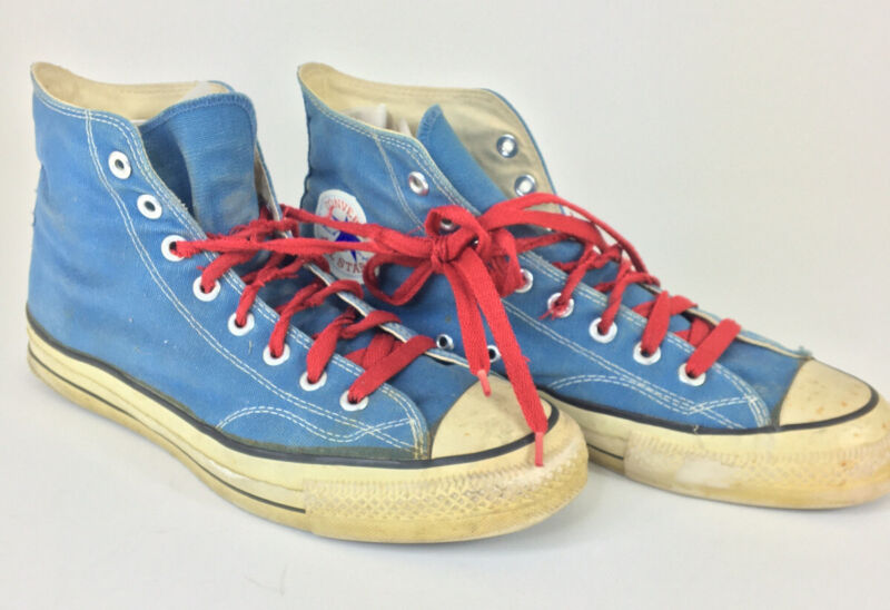 Vintage Converse All Star Hi Blue Color Size 10 Made in USA