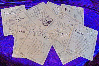 10 x INVOCATION & EVOCATION A4 SIZE - BOOK OF SHADOWS PAGES Wicca Witch Goth