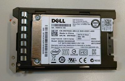 "DELL 1.8"" 800GB SATA SSD: DP/N 0N7RGD SSDSC1BG800G4RGenuine with Dell Bracket"