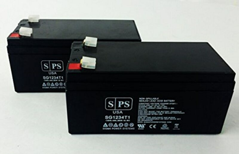 SPS Brand 12V 3.4 Ah Replacement Battery for Toro Lawn mower # 106-8397 (2 Pack)